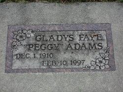 Gladys Faye Peggy <i>Shanelec</i> Adams