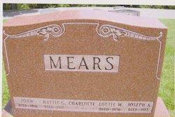 Mary Charlotte Lottie <i>Maxwell</i> Mears