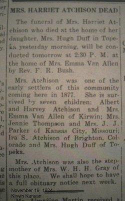 Harriet Miranda <i>Haugh</i> Atchison