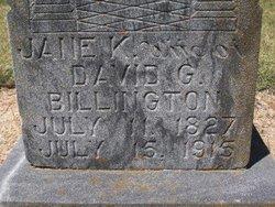 Jane Kingston <i>Sweetman</i> Billington