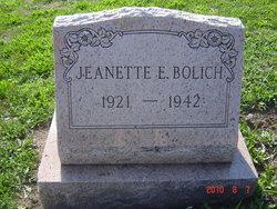 Jeanette E Bolich