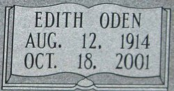 Edith <i>Oden</i> Aday