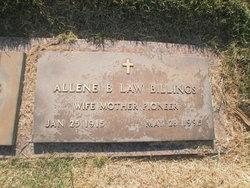 Allene <i>Law</i> Billings