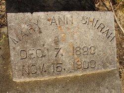 Mary Ann <i>Hall</i> Shirah