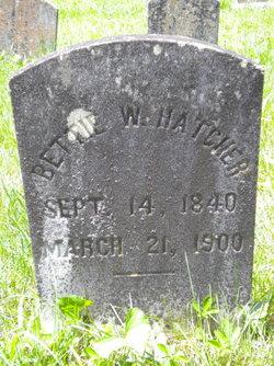 Bettie W <i>Lipscomb</i> Hatcher