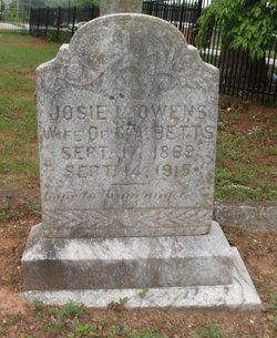 Josie L. <i>Owens</i> Betts