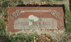 Elizabeth M. Lizzie Paul