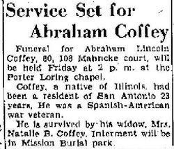 Abraham Lincoln Coffey
