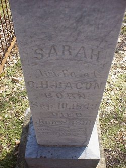 Sarah Jane <i>Harnage</i> Bacon