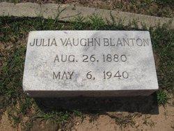 Julia <i>Vaughn</i> Blanton