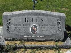 Leah Ann <i>Hayes</i> Bills
