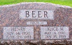 Alice <i>Getz</i> Beer
