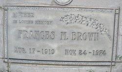 Frances Matilda <i>Albrecht</i> Brown
