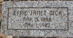 Effie Janet Dick