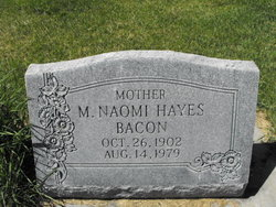 Mary Naomi <i>Haddock Hayes</i> Bacon