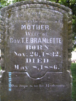 Mary E <i>Graham</i> Bramlette
