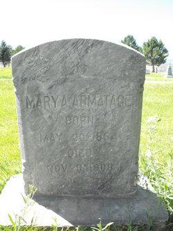 Mary A <i>Kennington</i> Armatage