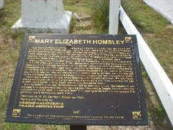 Mary Homsley Burial Site
