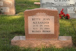 Betty Jean <i>Immel</i> Alexander