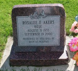 Rosalee E Rose Akers