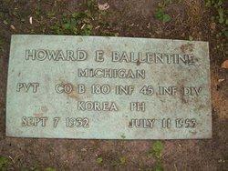 Pvt Howard E. Ballentine