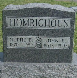 Nettie B <i>TenBrook</i> Homrighous