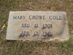 Mary Eva <i>Crowe</i> Cole
