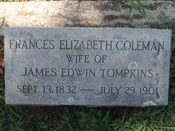 Frances Elizabeth <i>Coleman</i> Tompkins