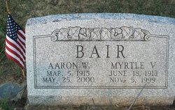 Myrtle V. <i>Amspacher</i> Bair