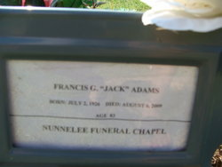 F G Jack Adams