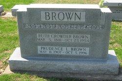 Ruth <i>Crowder</i> Brown