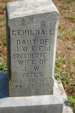 Cerilda Eller <i>Breedlove</i> Yates