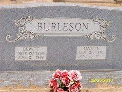 Mattie Clara <i>Carlisle</i> Burleson