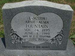 Arkie Alma <i>Langston</i> Fountain