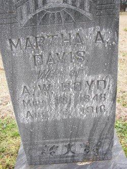 Martha A. <i>Davis</i> Boyd