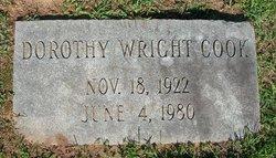 Dorothy <i>Wright</i> Cook