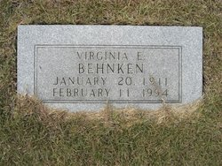 Virginia Edith <i>Mays</i> Behnken