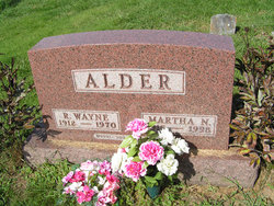Martha N <i>Wissinger</i> Alder