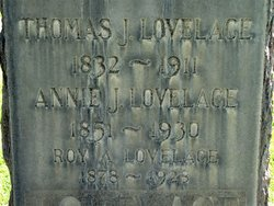 Annie Jane <i>Boone</i> Lovelace