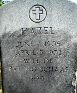Hazel Lucille <i>Kuchmichel</i> Schaaf