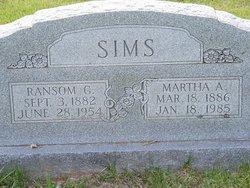 Martha A. <i>Harvell</i> Sims