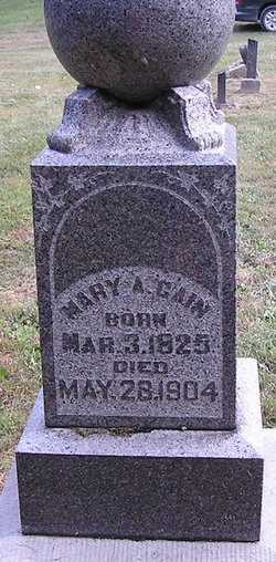 Mary Ann <i>Mounts</i> Cain