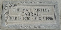 Thelma Lorraine <i>Kirtley</i> Cabral