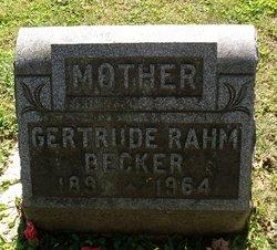 Gertrude <i>Rahm</i> Becker