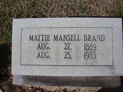 Mattie <i>Mansell</i> Brand