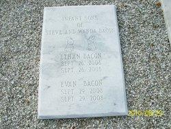 Infant son Evan Bacon