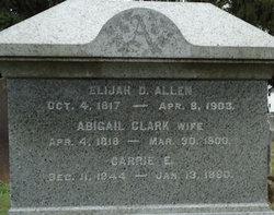 Abgail <i>Clark</i> Allen