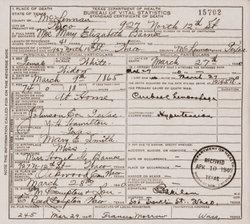 Mary Elizabeth Mollie <i>Hamilton</i> Barnes