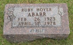 Ruby <i>Hoyer</i> Abarr