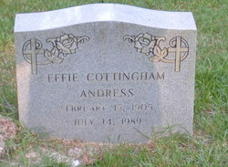 Effie Coty <i>Cottingham</i> Andress